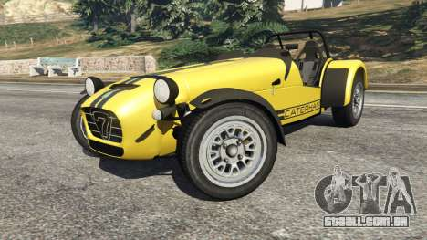GTA 5 Caterham Super Seven 620R v1.5 [yellow] vista lateral direita