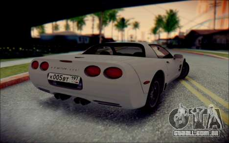 Chevrolet Corvette C5 2003 para GTA San Andreas vista interior