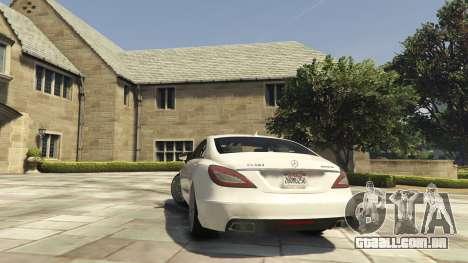 GTA 5 Mercedes-Benz CLS 6.3 AMG [BETA] traseira vista lateral esquerda