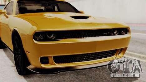 Dodge Challenger SRT Hellcat 2015 IVF PJ para GTA San Andreas vista interior