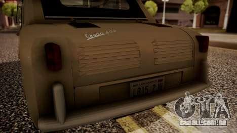 Vespa 400 1958 para GTA San Andreas vista traseira