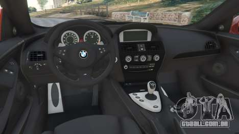 GTA 5 BMW M6 (E63) Tunable v1.0 vista lateral direita