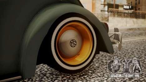 Volkswagen Beetle Aircooled para GTA San Andreas traseira esquerda vista