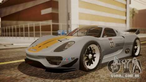 Porsche 918 RSR para GTA San Andreas