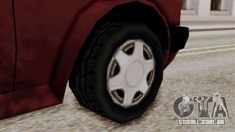 Updated Club Beta v1 para GTA San Andreas traseira esquerda vista