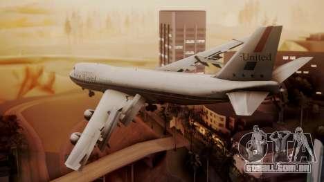 Boeing 747-100 United Airlines Friend Ship para GTA San Andreas esquerda vista