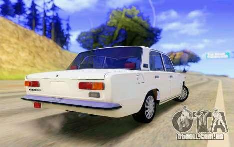 VAZ 2101 Estoque para GTA San Andreas traseira esquerda vista