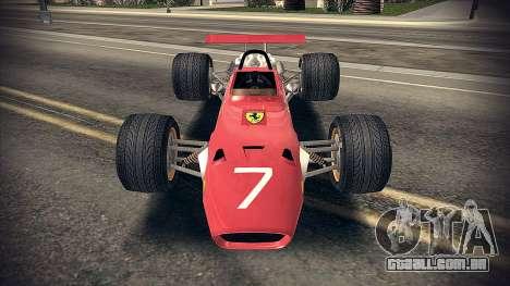 Ferrari 312 F1 para GTA San Andreas esquerda vista