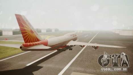Boeing 747-8I Air India para GTA San Andreas esquerda vista