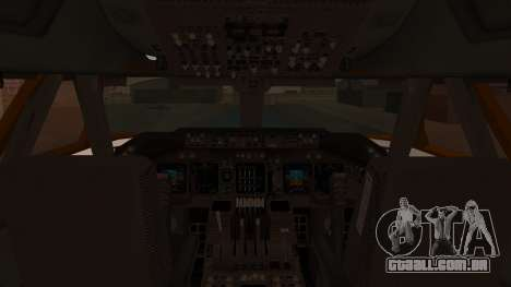 Boeing 747SR All Nippon Airways (NC) para GTA San Andreas vista interior