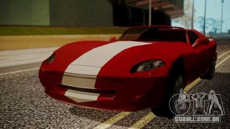 Banshee Edition 2015 para GTA San Andreas traseira esquerda vista