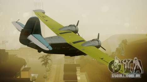 G-21A Argentine Naval Aviaton para GTA San Andreas esquerda vista