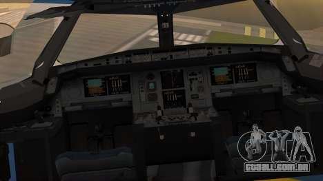 Airbus A380 Air Force One para GTA San Andreas vista traseira