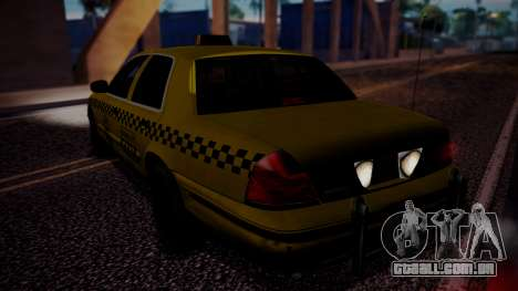 Raccoon City Taxi from Resident Evil ORC para GTA San Andreas esquerda vista