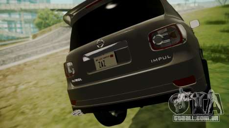 Nissan Patrol IMPUL 2014 para GTA San Andreas vista traseira