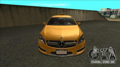 Mercedes-Benz A45 AMG Taxi 2012 para GTA San Andreas vista direita