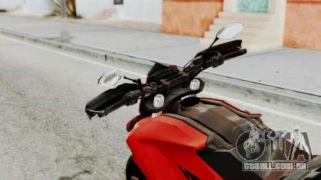 Ducati Hypermotard para GTA San Andreas vista traseira