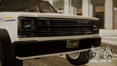 GTA 5 Declasse Rancher XL Police IVF para GTA San Andreas vista direita