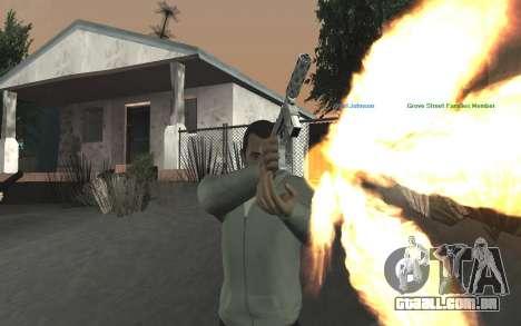 GTA 5 Tec-9 para GTA San Andreas nono tela