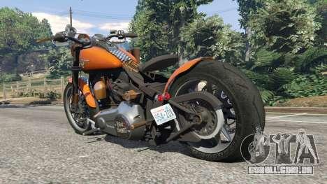 GTA 5 Harley-Davidson Fat Boy Lo Racing Bobber v1.2 traseira vista lateral esquerda