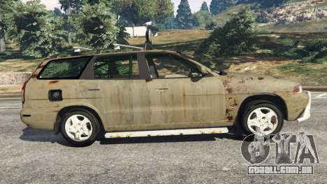 GTA 5 Daewoo Nubira I Wagon CDX US 1999 [Rusty] vista lateral esquerda