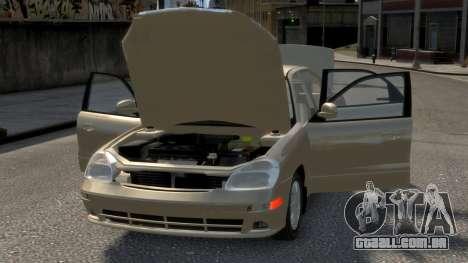 Daewoo Nubira II Sedan SX USA 2000 para GTA 4 motor