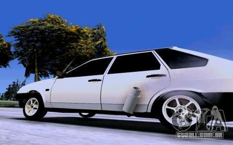 VAZ 2109 Turbo para GTA San Andreas traseira esquerda vista