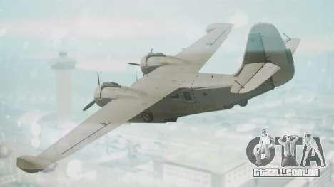 Grumman G-21 Goose Grey para GTA San Andreas esquerda vista