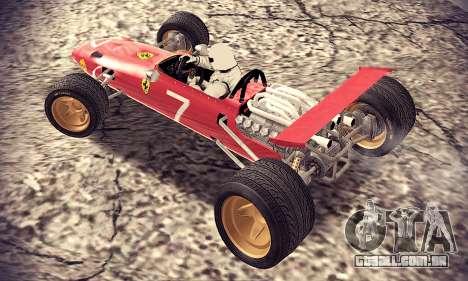 Ferrari 312 F1 para GTA San Andreas traseira esquerda vista
