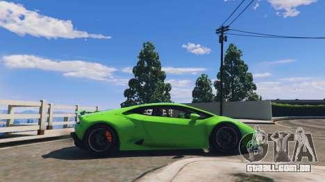 GTA 5 LibertyWalk Lamborghini Huracan vista lateral esquerda