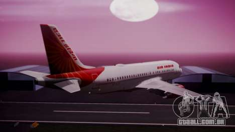 Airbus A319-100 Air India para GTA San Andreas esquerda vista