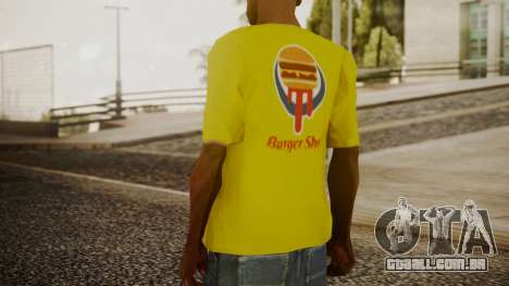 Burger Shot T-shirt Yellow para GTA San Andreas terceira tela