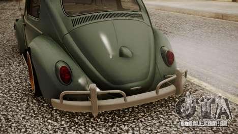 Volkswagen Beetle Aircooled para GTA San Andreas vista traseira