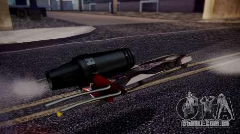 Hovercraft Vocaloid para GTA San Andreas traseira esquerda vista
