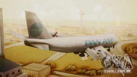 Boeing 747-100 Pan Am Clipper Juan T. Trippe para GTA San Andreas esquerda vista