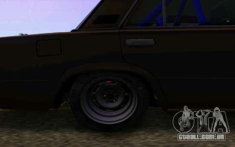 VAZ 2101 Carro para GTA San Andreas vista traseira