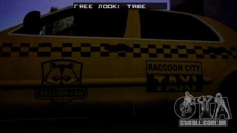 Raccoon City Taxi from Resident Evil ORC para GTA San Andreas traseira esquerda vista