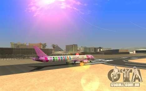 LoveLive Boeing 787-9 Livery para GTA San Andreas esquerda vista