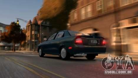 Daewoo Nubira II Sedan SX USA 2000 para GTA 4 traseira esquerda vista