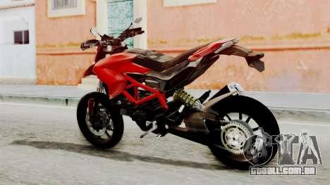 Ducati Hypermotard para GTA San Andreas esquerda vista