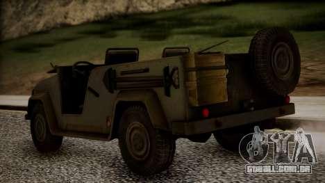 UAZ MGS5 TPP para GTA San Andreas esquerda vista