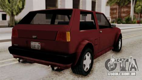 Updated Club Beta v1 para GTA San Andreas esquerda vista
