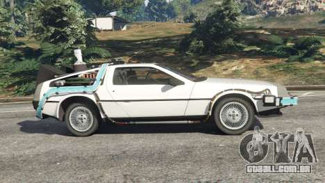 GTA 5 DeLorean DMC-12 Back To The Future v0.5 vista lateral esquerda