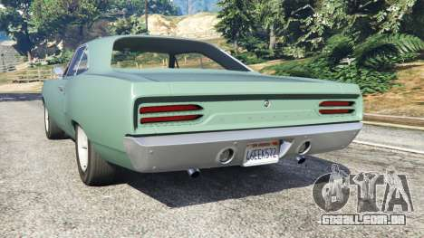 GTA 5 Plymouth Road Runner 1970 [fix] traseira vista lateral esquerda