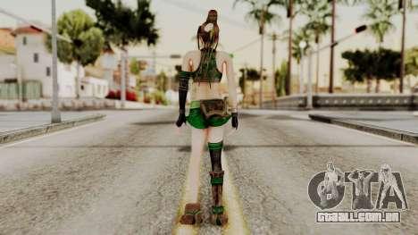 Dynasty Warriors 8 - Bao Sannian Green Costume para GTA San Andreas terceira tela