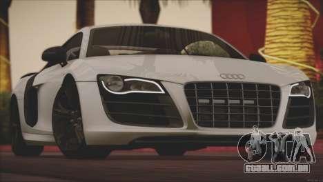 Audi R8 GT 2012 Sport Tuning V 1.0 para GTA San Andreas vista inferior