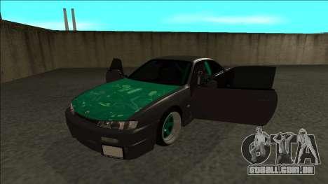 Nissan 200sx Drift para GTA San Andreas vista traseira
