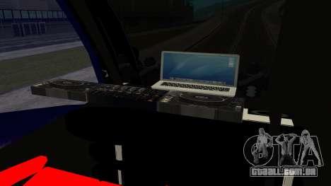 Bus in Thailand para GTA San Andreas traseira esquerda vista