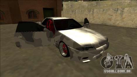 Nissan Skyline R32 Army Drift para vista lateral GTA San Andreas
