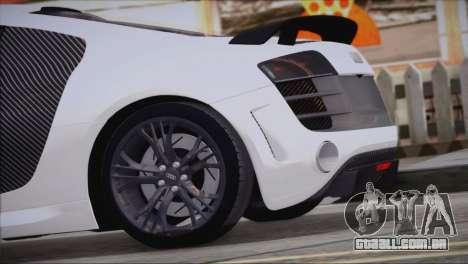 Audi R8 GT 2012 Sport Tuning V 1.0 para GTA San Andreas esquerda vista